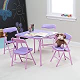 Showtime Childrens Folding Table and Chair Set, Purple, 1