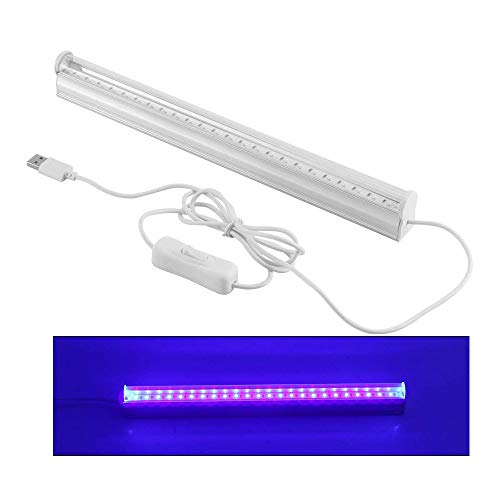 Abedoe USB Portable 6W LED Germicidal Ultraviolet Lamp UV Light Bar Air Fresh Sterilizing Lamp 395-400nm for DJ Party,Bathroom, Kitchen, Toilet, Bedroom, AC 100-265V (Plug Not Included)
