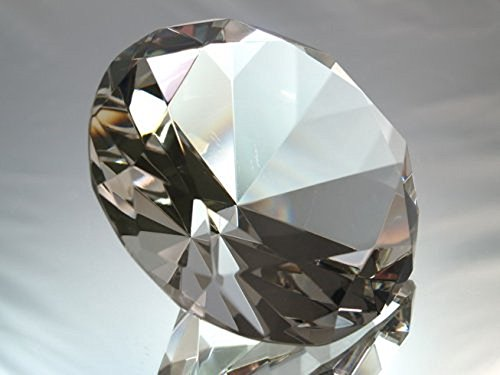 (100mm Clear Crystal Diamond Jewel Paperweight)