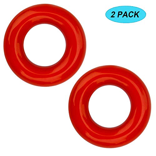 Amy Sport Golf Weighted Swing Ring Value 2Pcs, Club Warm Up Donut Weight for Practice Training (2 in Red) ()