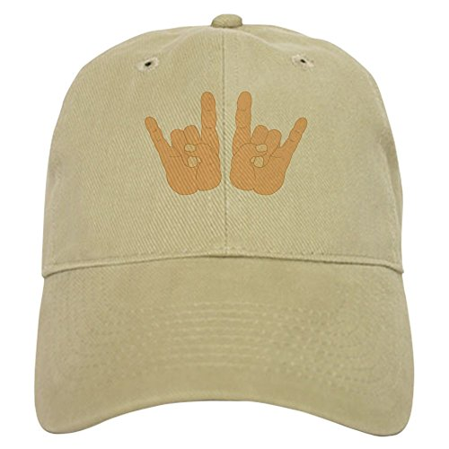 CafePress Rock & Roll Hands - Baseball Cap with Adjustable Closure, Unique Printed Baseball ()