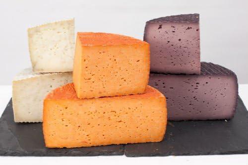 Queso Naranja de Cabra y Oveja al Pimentón de La Vera - Producción Artesana - Pieza 1 Kg: Amazon.es: Alimentación y bebidas