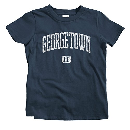 Smash Vintage Kids Georgetown D.C. T-Shirt - Navy, Youth - Street Georgetown M