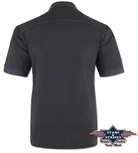 "Poloshirt Herren Western Shirt ""Gordan"" Stars & Stripes Gr. S bis 3XL"