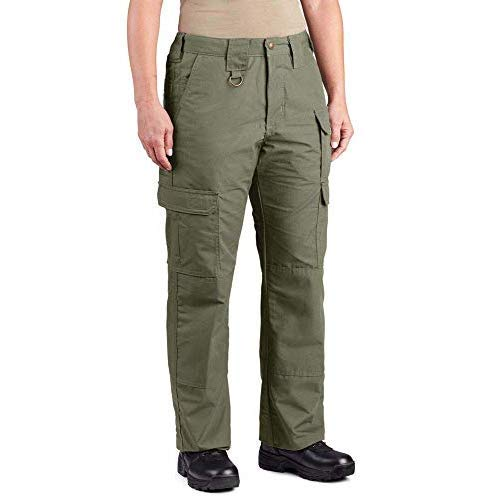 (Propper Women's Tactical Pant Canvas, Olive Green, 6 UNHEMMED)
