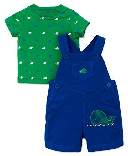 Little Me Baby Boys 2 Piece Knit Shortall Set