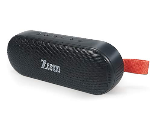 Zosam Portable Bluetooth Wireless Speaker, HiFi 16W Deep Bass, IPX6 Waterproof 18H Playtime True Wireless Stereo Speaker with Built-in Mic and AUX/SD Input for Shower, Beach, Party, Travel (Black)