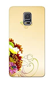 Ellent Galaxy S5 Case Tpu Cover Back Skin Protector Wildflower Bouquet For Lovers' Gifts