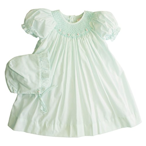 Petit Ami Daydress With Raglan Sleeves and Smocking and Embroidery in -