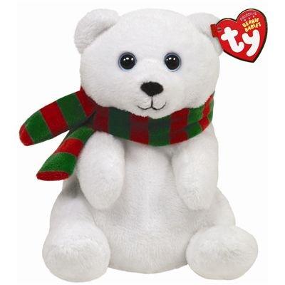 b1293587a05 Amazon.com  Ty Beanie Babies Snowdrop - Polar Bear With Scarf  Toys   Games