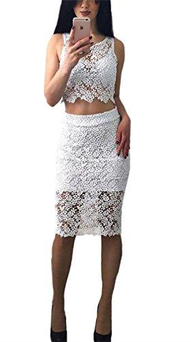 2 Piece Lace Dress - 3