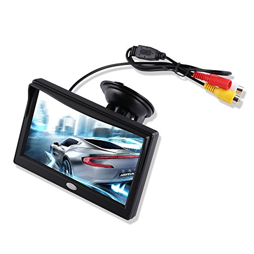 5-Inch-TFT-LCD-Car-Color-Rear-View-Monitor-Screen-for-Parking-Rear-View-Backup-Camera-With-2-Optional-BracketSuckers-Mount-and-Normal-Adhesive-Stand