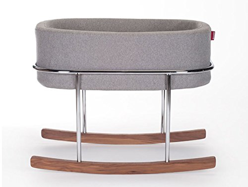 Amazon monte design rockwell bassinet modern heather grey