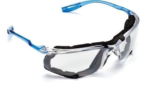 3M Safety Glasses, Virtua CCS, ANSI Z87, Anti-Fog, Clear Lens, Blue Frame, Corded Ear Plug Control System, Removable… 1