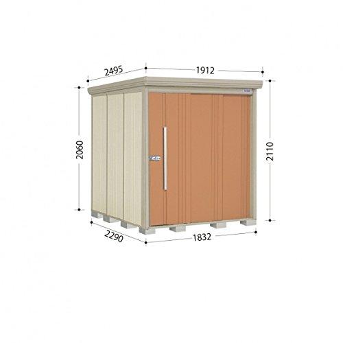 タクボ物置 ND/ストックマン ND-1822 一般型 標準屋根 『屋外用中型大型物置』 トロピカルオレンジ B00ADLAM8G