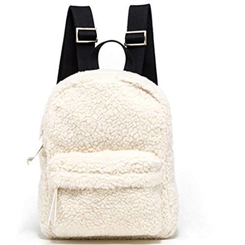 NingZe New Korean casual embossed cute lambskin girl backpack