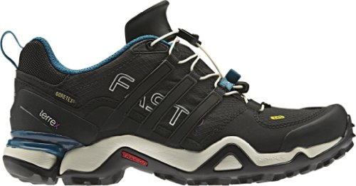 adidas outdoor Women's Terrex Fast R GTX? Solid Grey/Black/Vivid Teal 8.5 B – Medium