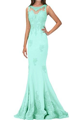 Blau Applikation Ivydressing Perlen Damen Festkleid Abendkleid Partykleid Luxurioes Spitze Lang waTqnxTAOv