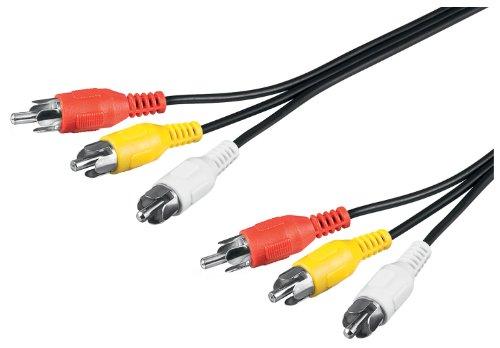 Wentronic Audio/Video Kabel (3x Cinchstecker auf 3x Cinchstecker) 1,5 m