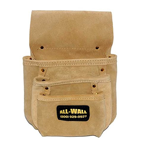 Perma Pouch Top Quality Leather 3-Pocket Nail / Screw Pouch