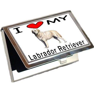 I Love My Labrador Retriever Business Card Holder (Labrador Business Card Holder)