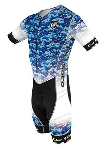 De Soto Sport Riviera Flisuit - RTTS3 - 2018(Blue, - Sleeved Suit Tri