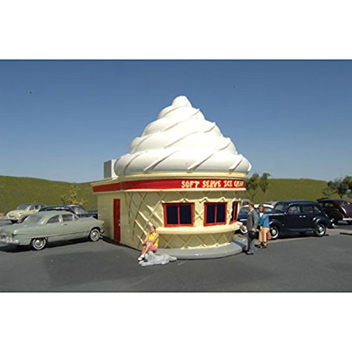 Roadside U.S.A. Resin Building - Ice Cream Stand - O Scale