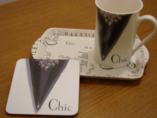 - Mug Coaster and Tray Chic Design by Kent Pottery New in Box