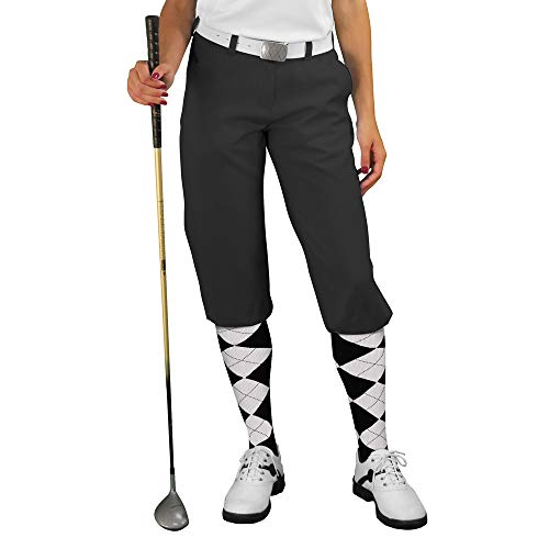 - Golf Knickers Black Womens 'Par 3' - Microfiber - Size 16