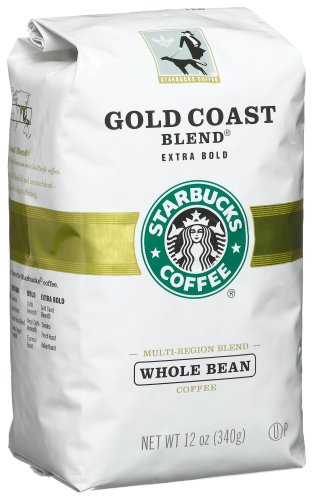 Starbucks Gold Coast Blend Coffee, Whole Bean, 12-Ounce Bags (Pack of 3)