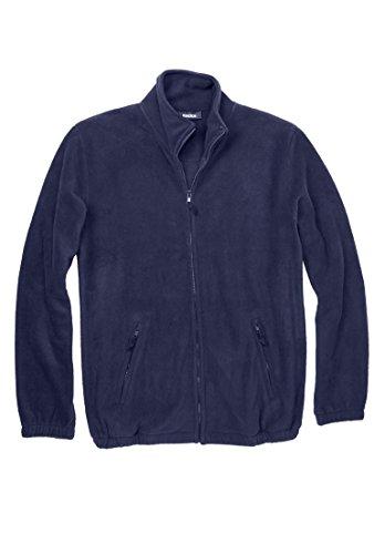 KingSize Men's Big & Tall Explorer Fleece Jacket, Navy Big-6Xl - Big Collar Jacket