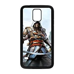 Samsung Galaxy s5 Black Cell Phone Case Assassins Creed LWDZLW0545 Design Customized Phone Case Cover
