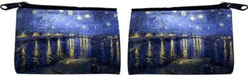 Rikki Knight Van Gogh Starry Night Design Scuba Foam Coin Purse
