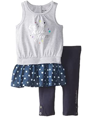 Baby Girls' and Blue Tunic with Leggings