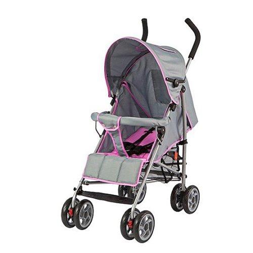Dream On Me Journey Lightweight Umbrella Stroller, Light Gray/Pink