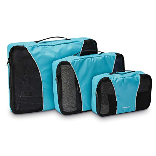 (Samsonite 3 Piece Packing Cube Set Travel Tote, Blue, One Size)