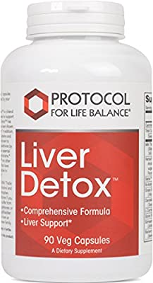 Protocol For Life Balance - Liver Detox™ - with Milk Thistle Extract, Comprehensive Antioxidant Formula to Support the Liver, Stress Management, Relaxation, & Helps with Weight Loss - 90 Capsules