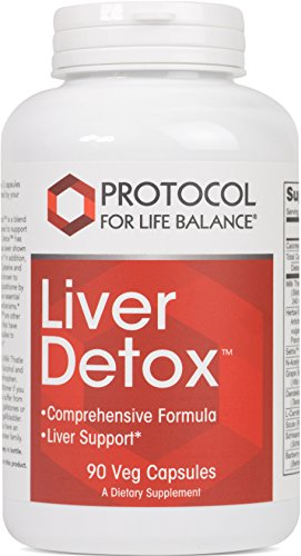 Protocol For Life Balance - Liver Detox™ - with Milk Thistle Extract, Comprehensive Antioxidant Formula to Support the Liver, Stress Management, Relaxation, & Helps with Weight Loss - 90 Capsules by Protocol For Life Balance