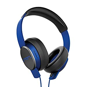 "SOL REPUBLIC Master Tracks X3 Over-Ear Headphones – Noise Isolation, Club Like Sound,  Mic + Music & Siri Control, 1/4"" Adapter, Virtually Indestructible, 1601-36 Electro Blue"