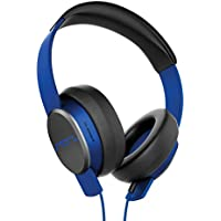 SOL REPUBLIC Master Tracks X3 Over-Ear Headphones – Noise Isolation, Club Like Sound,  Mic + Music & Siri Control, 1/4 Adapter, Virtually Indestructible, 1601-36 Electro Blue
