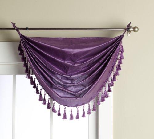 Editex Home Textiles Elaine ojales cenefa cascada, 36por 94cm, color lila