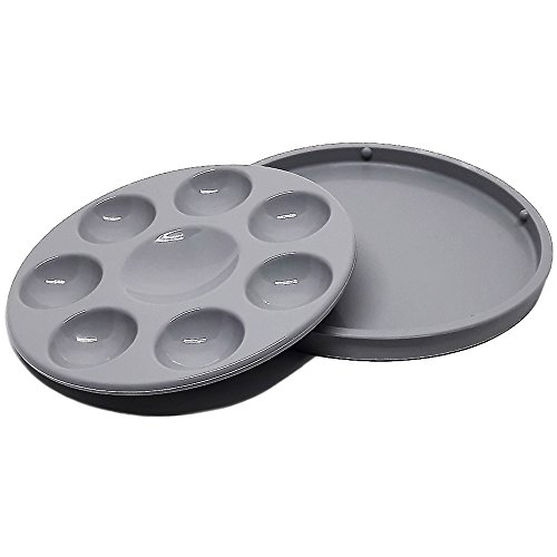 kits-inventive-gray-nonstick-unbreakable-synthetic-rubber-paint-tray-palette-with-lid-8-well-the-new