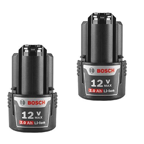 Bosch BAT414 Replacement (2 Pack) 12-Volt Max Lithium-Ion 2.0Ah High Capacity Battery # BAT414-2pk