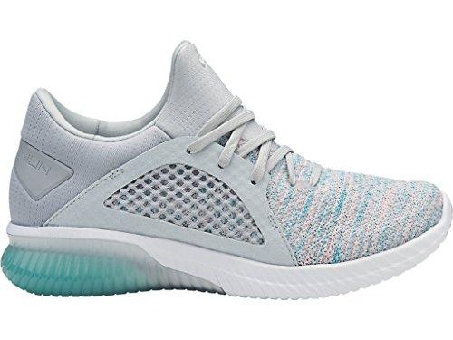 Asics Femmes Gel-kenun Tricot Sneaker Aruba Bleu / Glacier Gris / Blanc