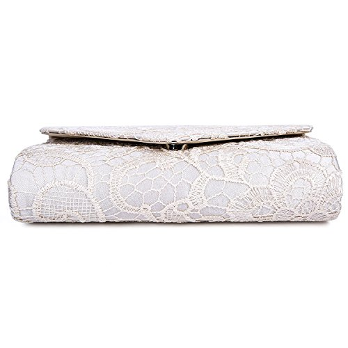 For Party Apricot And Bags Evening Lace Elegant Handbag Women's Floral Clutches Prom EULovelyPrice Envelope wnqfTUn6