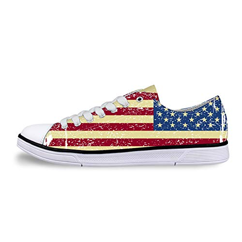 Shoes Painted with Stars and Thread for Women Canvas Shoes Low Cut Lace up Comfortable for Men.]()