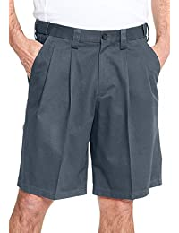 Men's Big & Tall Tall Wrinkle-Free Expandable Waist Pleat Front Shorts