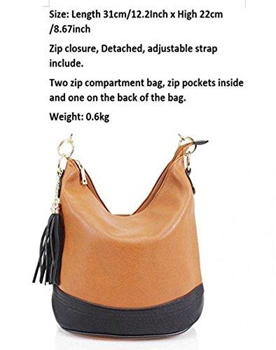 Fashion Bag Cream Bags Tassel Women's Bag Shoulder Handbags Tote CW9660 For LeahWard Women Bucket OI4qBR