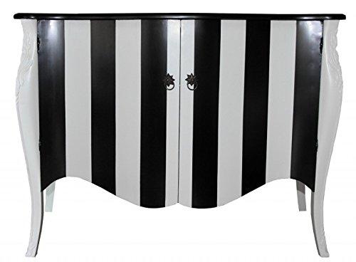 Kommode schwarz barock  Casa Padrino Barock Kommode Schwarz/Weiß Streifen 120cm Mod - Antik ...