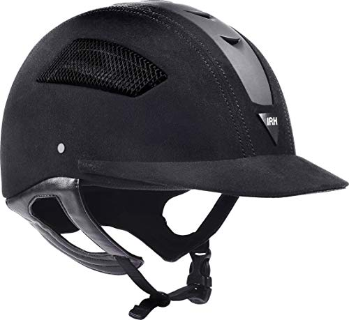 Elite EQ Full Wrap-Around Harness Helmet with Amara Suede Shell & Matte Black Front Vent, Size 7 3/8, Black (Renewed)